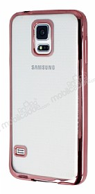 Eiroo Color Fit Samsung i9600 Galaxy S5 Rose Gold Kenarl� �effaf Silikon K�l�f