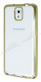 Eiroo Color Fit Samsung N9000 Galaxy Note 3 Gold Kenarl� �effaf Silikon K�l�f
