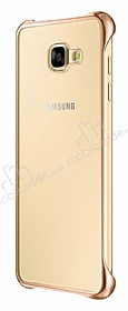 Eiroo Color Thin Samsung Galaxy A7 2016 Gold Rubber Kılıf