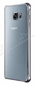 Eiroo Color Thin Samsung Galaxy Note 5 Silver Rubber Kılıf