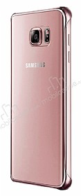 Eiroo Color Thin Samsung Galaxy Note 5 Rose Gold Rubber Kılıf