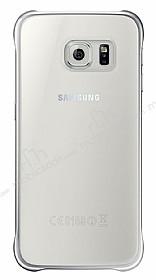 Eiroo Color Thin Samsung Galaxy S6 Edge Silver Rubber Kılıf