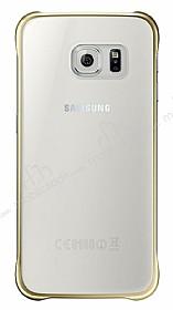 Eiroo Color Thin Samsung Galaxy S6 Gold Rubber Kılıf