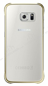 Eiroo Color Thin Samsung Galaxy S7 Edge Gold Rubber Kılıf