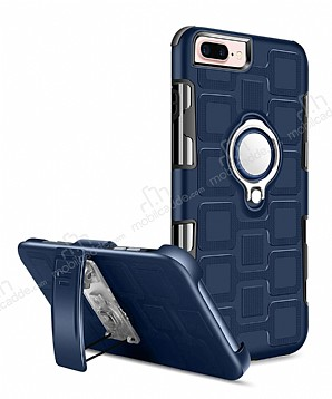 Eiroo Durable iPhone 7 Plus / 8 Plus Ultra Koruma Lacivert Kılıf