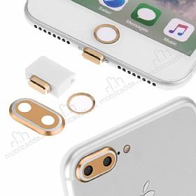 Eiroo Dust Plug iPhone 7 Plus Gold Koruma Seti