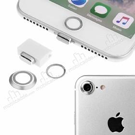Eiroo Dust Plug iPhone 7 / 8 Silver Koruma Seti
