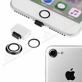 Eiroo Dust Plug iPhone 7 Siyah Koruma Seti