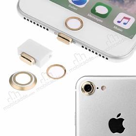 Eiroo Dust Plug iPhone 7 Gold Koruma Seti