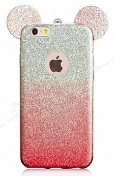 Eiroo Ear Sheenful iPhone 6 Plus / 6S Plus Kırmızı Silikon Kılıf