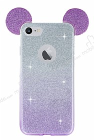 Eiroo Ear Sheenful iPhone 7 Mor Silikon Kılıf