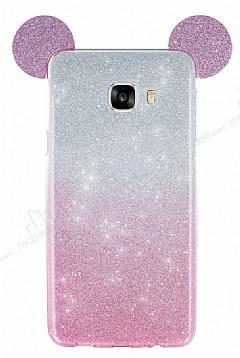 Eiroo Ear Sheenful Samsung Galaxy C5 Pembe Silikon Kılıf