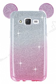 Eiroo Ear Sheenful Samsung Galaxy J5 Pembe Silikon K�l�f