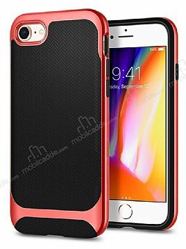 Eiroo Efficient iPhone 7 / 8 Kırmızı Kenarlı Ultra Koruma Kılıf