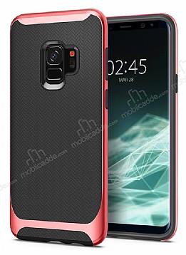 Eiroo Efficient Samsung Galaxy S9 Kırmızı Kenarlı Ultra Koruma Kılıf