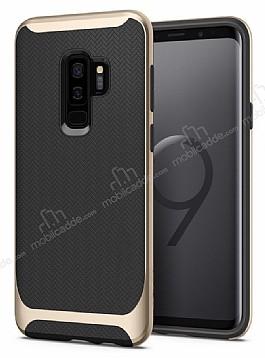 Eiroo Efficient Samsung Galaxy S9 Plus Gold Kenarlı Ultra Koruma Kılıf