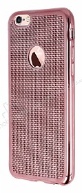 Eiroo Flashy iPhone 6 / 6S Metalik Rose Gold Silikon K�l�f