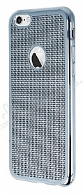 Eiroo Flashy iPhone 6 / 6S Metalik Silver Silikon K�l�f