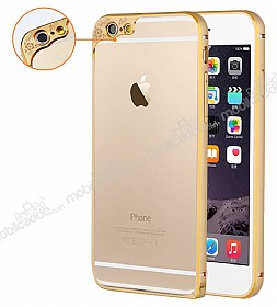 Eiroo Flower Series iPhone 6 Plus / 6S Plus Bumper �er�eve Gold K�l�f