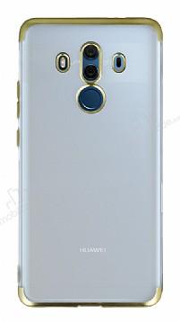 Eiroo Frosty Huawei Mate 10 Pro Gold Kenarlı Silikon Kılıf