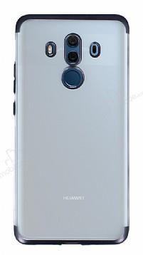 Eiroo Frosty Huawei Mate 10 Pro Siyah Kenarlı Silikon Kılıf
