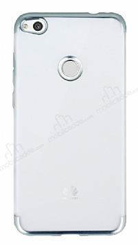 Eiroo Frosty Huawei P9 Lite 2017 Silver Kenarlı Silikon Kılıf