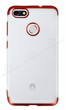 Eiroo Frosty Huawei P9 Lite Mini Kırmızı Kenarlı Silikon Kılıf