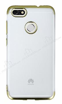 Eiroo Frosty Huawei P9 Lite Mini Gold Kenarlı Silikon Kılıf
