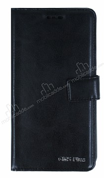 Eiroo General Mobile GM 5 Plus Cüzdanlı Yan Kapaklı Siyah Deri Kılıf