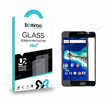 Eiroo General Mobile GM6 Curve Tempered Glass Full Siyah Cam Ekran Koruyucu