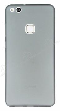 Eiroo Ghost Thin Huawei P10 Lite Ultra İnce Şeffaf Siyah Rubber Kılıf