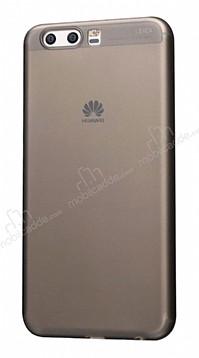 Eiroo Ghost Thin Huawei P10 Plus Ultra İnce Şeffaf Siyah Rubber Kılıf