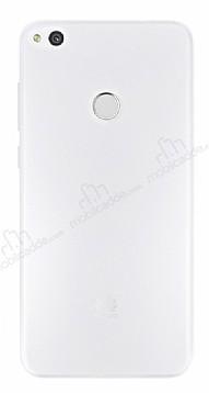 Eiroo Ghost Thin Huawei P8 Lite Ultra İnce Şeffaf Beyaz Rubber Kılıf