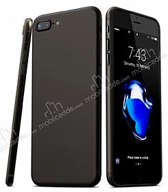 Eiroo Ghost Thin iPhone 7 Plus / 8 Plus Ultra İnce Siyah Rubber Kılıf