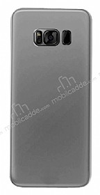 Eiroo Ghost Thin Samsung Galaxy S8 Ultra İnce Şeffaf Siyah Rubber Kılıf
