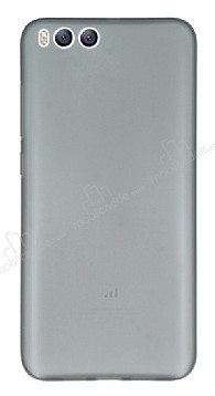 Eiroo Ghost Thin Xiaomi Mi 6 Ultra İnce Şeffaf Siyah Rubber Kılıf