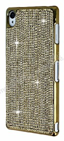 Eiroo Glows Sony Xperia Z3 Ta�l� Gold Rubber K�l�f