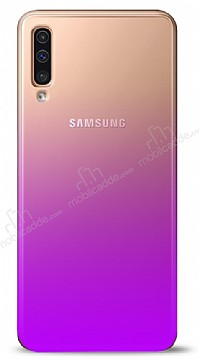 Eiroo Gradient Samsung Galaxy A7 2018 Geçişli Mor Rubber Kılıf