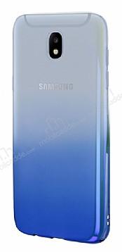 Eiroo Gradient Samsung Galaxy J7 Pro 2017 Geçişli Mavi Rubber Kılıf