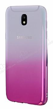 Eiroo Gradient Samsung Galaxy J7 Pro 2017 Geçişli Pembe Rubber Kılıf