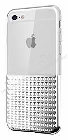 Eiroo Half Glare iPhone 6 / 6S Silver Silikon Kılıf
