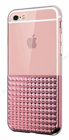 Eiroo Half Glare iPhone 6 / 6S Rose Gold Silikon Kılıf