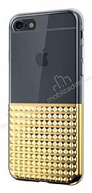 Eiroo Half Glare iPhone 6 Plus / 6S Plus Gold Silikon Kılıf