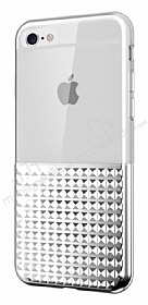 Eiroo Half Glare iPhone 6 Plus / 6S Plus Silver Silikon Kılıf