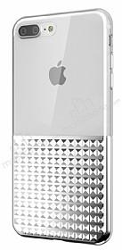 Eiroo Half Glare iPhone 7 Plus Silver Silikon Kılıf