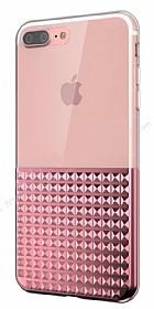 Eiroo Half Glare iPhone 7 Plus / 8 Plus Rose Gold Silikon Kılıf
