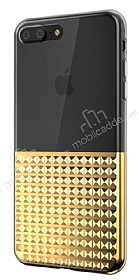 Eiroo Half Glare iPhone 7 Plus / 8 Plus Gold Silikon Kılıf