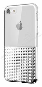 Eiroo Half Glare iPhone 7 / 8 Silver Silikon Kılıf