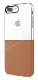 Eiroo Half to Life iPhone 7 Plus / 8 Plus Kahverengi Silikon Kılıf