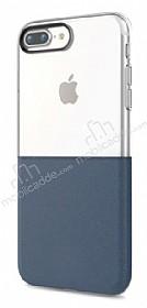 Eiroo Half to Life iPhone 7 Plus / 8 Plus Lacivert Silikon Kılıf